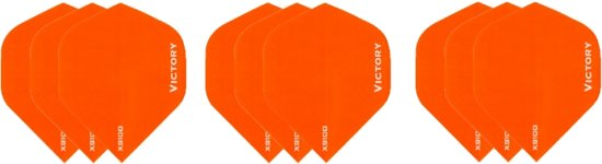3 sets (9 stuks) Super Sterke Oranje Poly XS100 - dart flights - darts flights