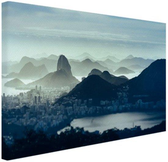 Guanabara baai Rio de Janeiro Canvas 60x40 cm - Foto print op Canvas schilderij (Wanddecoratie)