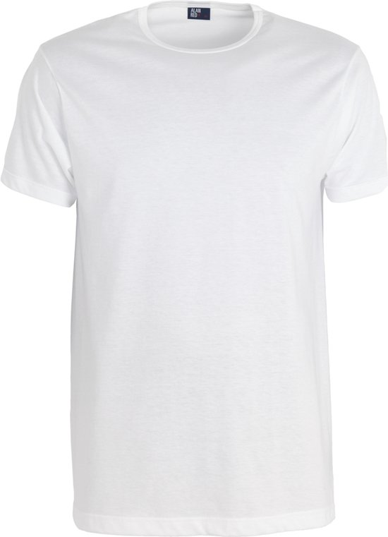 Alan Red T-shirts Derby (2-pack), O-hals, wit