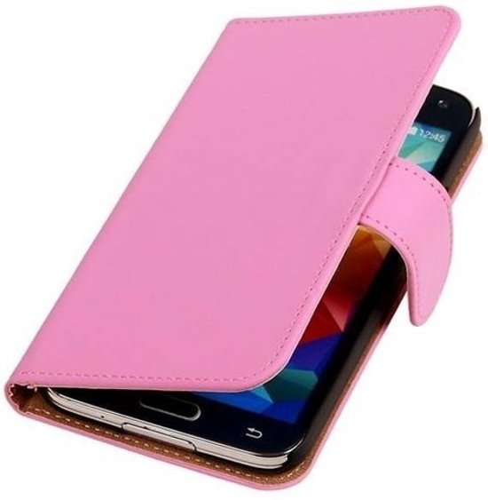 MP Case Bookcase Flip Wallet Cover Cover - Samsung Galaxy S4 Pink/Roze in Radewijk