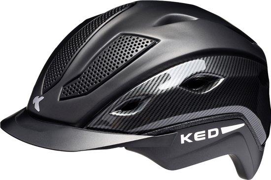 KED Xilon L anthracite matt carbon helm met hoofdomtrek: 56-61 cm