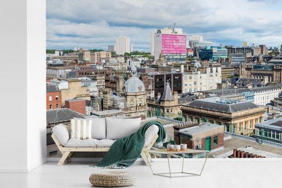 Fotobehang vinyl - Uitzicht over de Schotse stad Glasgow in Europa breedte 420 cm x hoogte 280 cm - Foto print op behang (in 7 formaten beschikbaar)