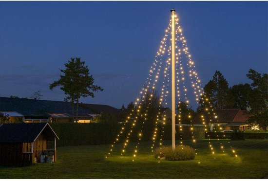 DecorativeLighting Vlaggenmast verlichting - 800cm - 400 LED's