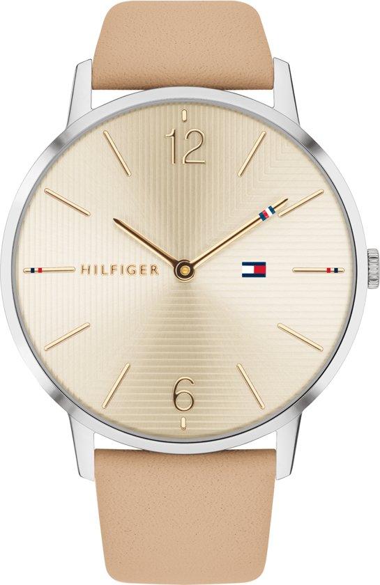 5fe4bdb94ddd76 Tommy Hilfiger TH1781974 Horloge - Leer - Bruin - Ø 40 mm