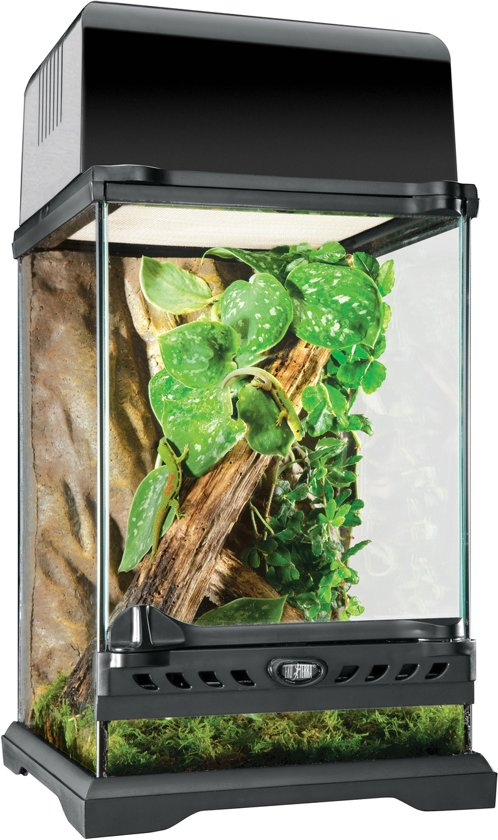 Exo Terra Nano Terrarium - Zwart - 20 x 20 x 30 cm