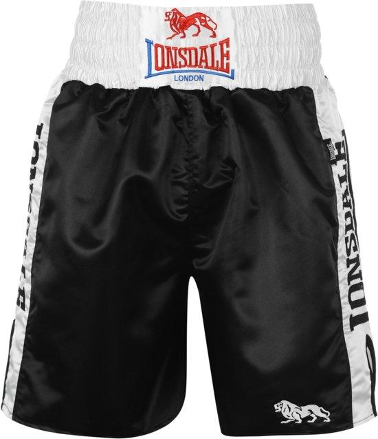 Trunks Pro white LBoksbroek Black Logo Large Lonsdale OuXiPkZ