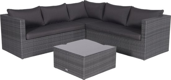 Garden Impressions - Montana - lounge set - earl grey/donker antraciet