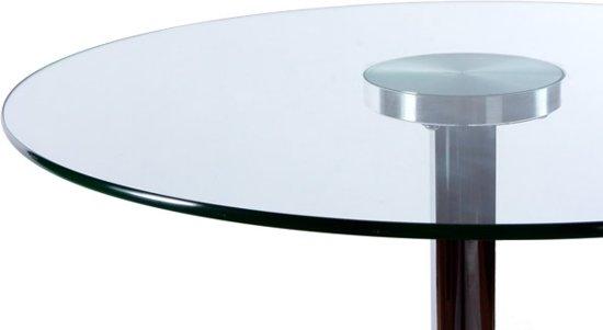 Glazen Tafelblad Rond.Bol Com 24designs Statafel Ariel H110 Cm Rond Glazen