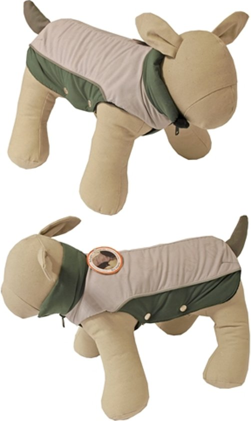 Boony hondenregenjas magic dragons lichtgrijs 20cm ruglengte