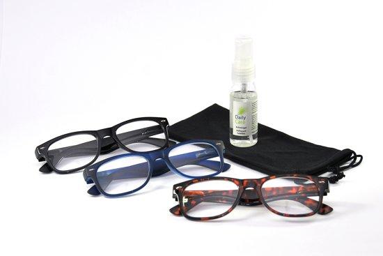 Combi 3 leesbrillen trendy +1.00