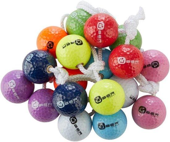 3x2 Bolas voor Laddergolf, echte golf-bolas, uniek en perfect. Zwart