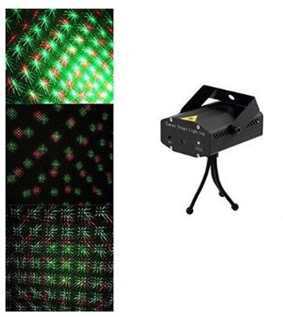 Mini Laser Stage Lighting rood/groen muziekgestuurd - Zwart in Nagele