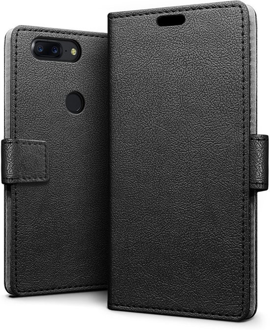 new product 5abbc 6dfbd OnePlus 5T hoesje - Book Wallet Case - zwart