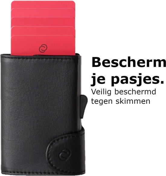3d42db8fdd4 C-secure Luxe Leren Pasjeshouder Portemonnee, Met Aluminium Pasjeshouder,  Ruimte Voor Briefgeld En Muntgeld.