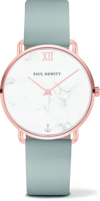 Paul Hewitt Miss Ocean Line Marble Stainless Steel Horloge