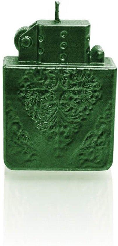 bol.com | Interieur figuurkaars Aansteker groen metallic. Hoogte 8 ...
