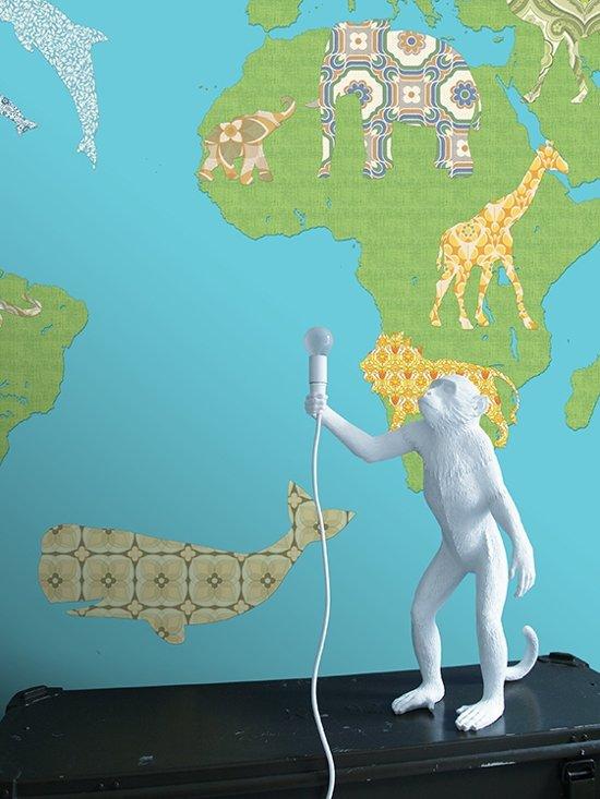 Wereldkaart groen