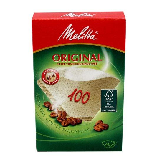 Melitta koffielfilter 100 met 40 filters in 1 verpakking