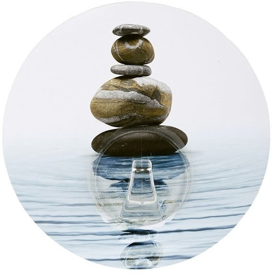 Handdoekhaak Wenko Meditation Staticloc Muur PET Multi