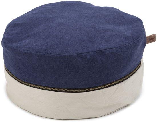 Designed by Lotte Fyrna - Kattenpoef - Beige/Blauw - 45 cm
