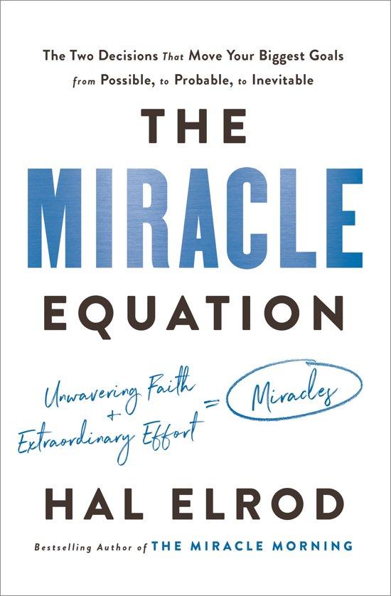 Boek cover The Miracle Equation van Hal Elrod (Hardcover)