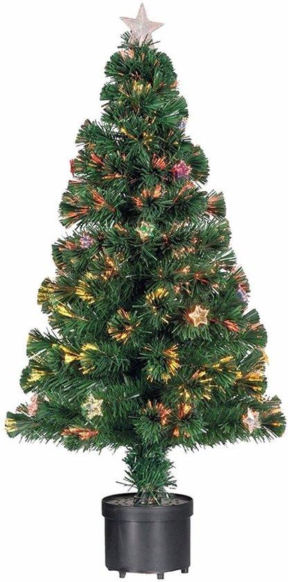 bol.com | Kleine kunst kerstboom met verlichting en versiering - 90 ...