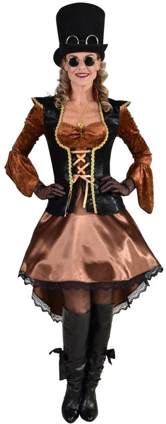 Steampunk Kostuum | Steampunk Piraat Kapitein Karin | Vrouw | Large | Carnaval kostuum | Verkleedkleding