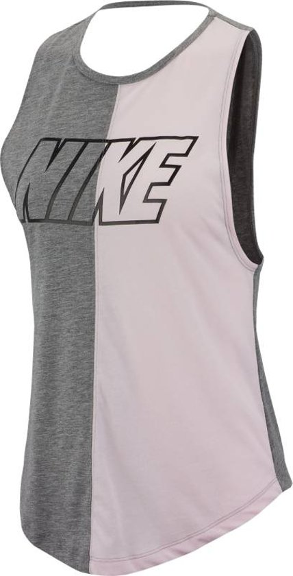 Nike Miler Tank Sd Sporttop Dames - Grijs