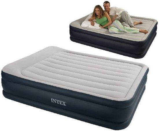 Beste Opblaasbaar Logeerbed.Intex 67738 Queen Pillow Rest Raised Zelfopblazend 2 Persoons Luchtbed 203x152x43cm