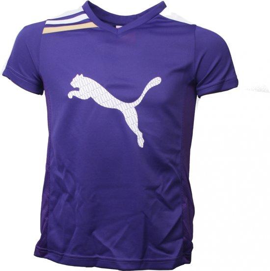 | Puma Jongens Sport T shirt Esito Paars Maat 128