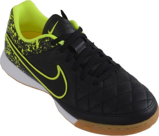 Nike Tiempo Genio Leather IC Zaalvoetbalschoenen Junior Voetbalschoenen - Maat 35 - Unisex - zwart/