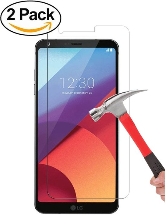 Ntech - 2 Pack   LG G6 2017 Glazen tempered glass / screen protector  2.5D 9H (0.3mm)