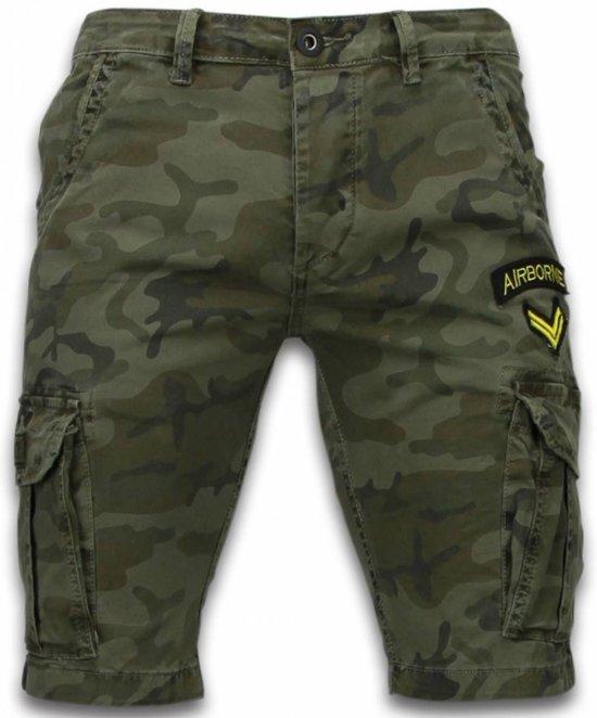 Korte Broek Camouflage Heren.Bol Com Enos Korte Broeken Heren Slim Fit Army Stitched Shorts