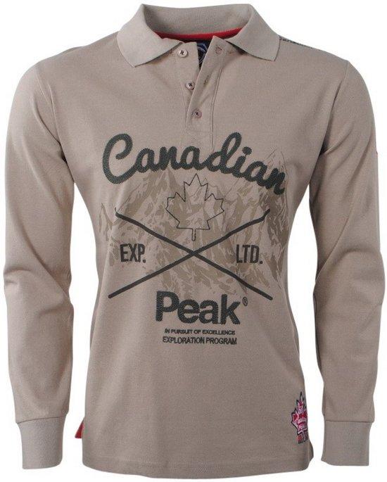 0f7042068bd0 bol.com   Canadian Peak - Heren Polo met lange mouw - Karaka - Beige