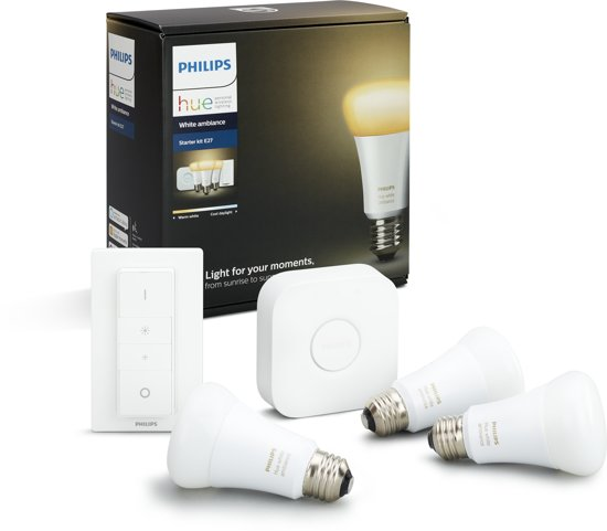 Philips Hue - White Ambiance Starterkit - Incl Hue dimmer switch - E27