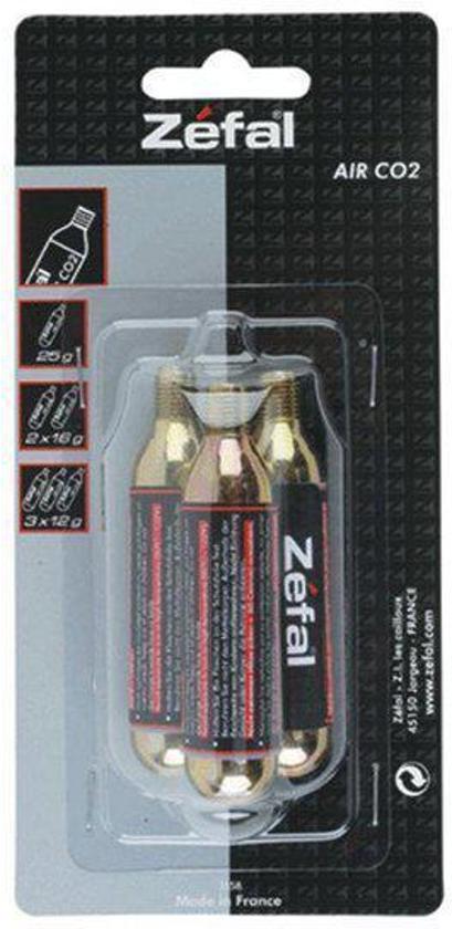 Zefal - Co2 patroon - 12g - 3 stuks/Blister