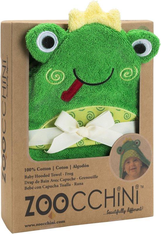 Zoocchini baby badcape 100% katoen - Flippy the Frog