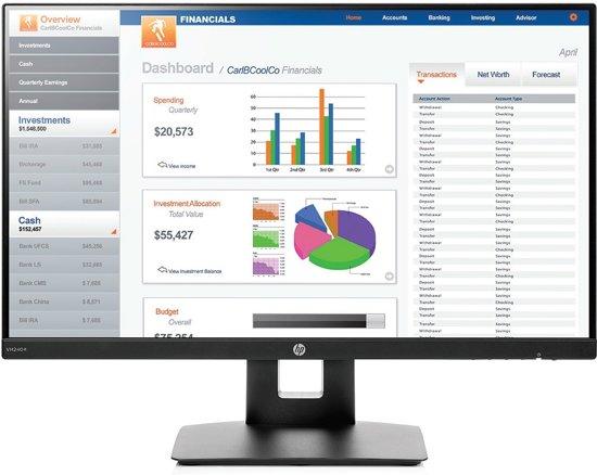 HP VH240a 23.8'' Full HD IPS Zwart computer monitor