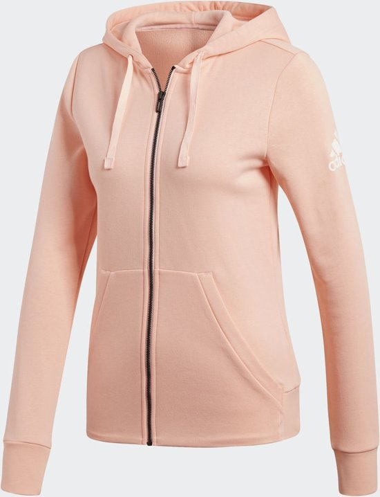 229f2f879c3 bol.com   adidas Essentials Solid FZ Hoodie Vest Dames - Haze Coral ...