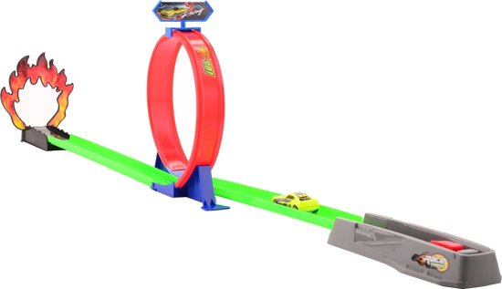 Johntoy Racebaan Race Masters Met Looping 105 Cm Paars