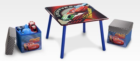 Cars - Tafel - Multi - met 2 hockers