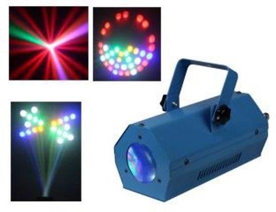 IIbiza LCM003LED-BLUE Disco LED Lichteffect Moon Flower RGBAW Blauw
