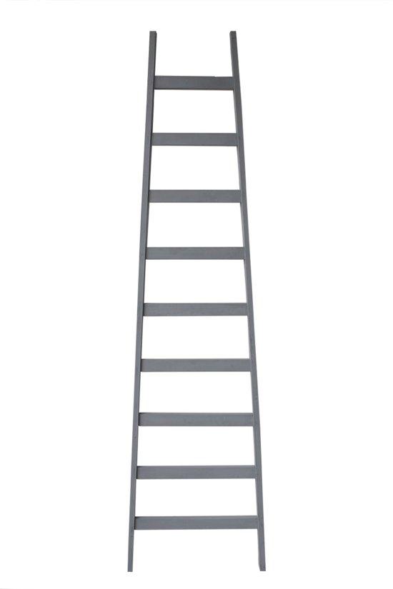 Robuuste Houten Ladder.Bol Com Decoratie Ladder Hout Grijs