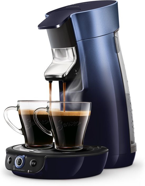 Philips Senseo Viva Café Duo Select HD6566/60 - Koffiepadapparaat - Blauw