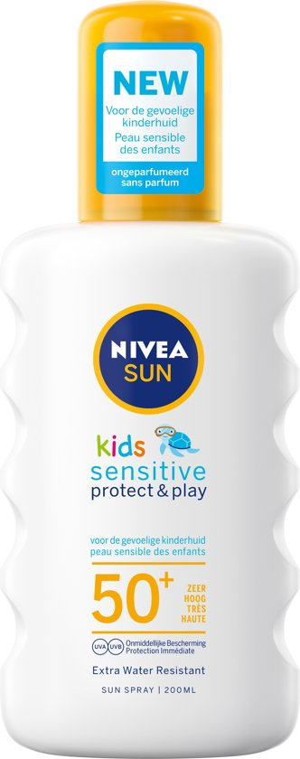 NIVEA SUN Kids Protect & Sensitive Zonnespray SPF 50+ - 200 ml