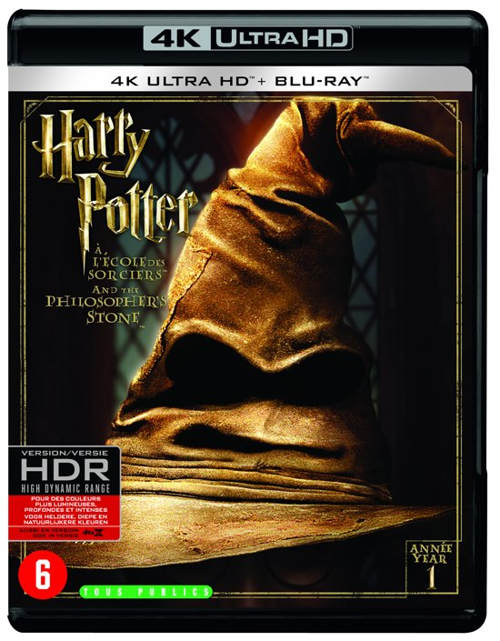 DVD cover van Harry Potter And The Philosophers Stone (4K Ultra Blu-ray)