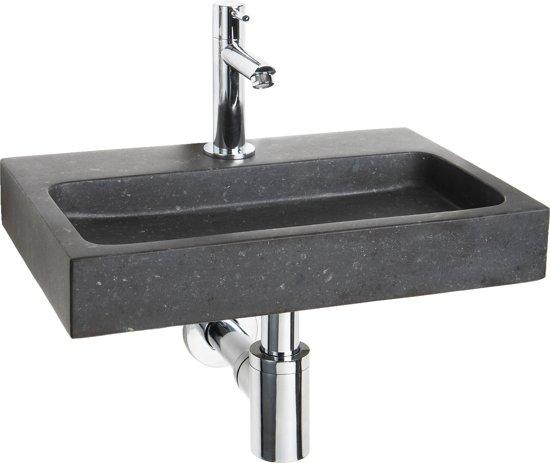 Differnz flat small fontein toilet set fontein 38 x 24 cm inclusief fonteinkraan en - Toilet wastafel ...