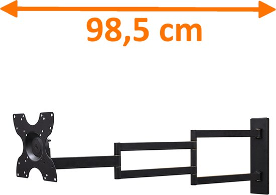 Tv Beugel Voor In Kast.Bol Com Dq Wall Support Rotate Xl Black 98 5 Cm Tv Beugel
