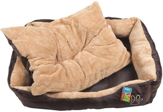 Bruine poezen/katten mand/kussen 90 cm