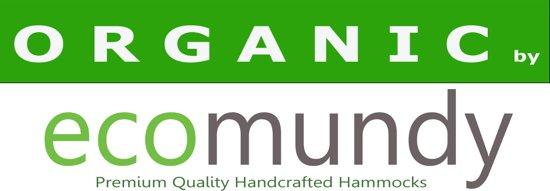 ECOMUNDY PURE BIO XL 360 GROEN - Luxe 2-persoons hangmat - handgeweven biologisch katoen - GOTS - 160x240x360cm Max 250kg